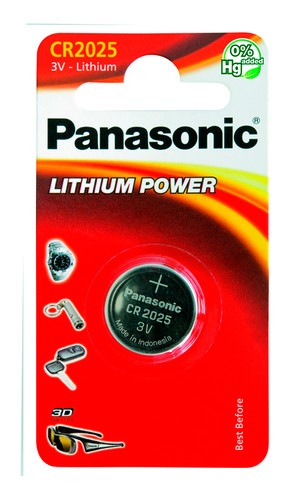 Элемент питания Panasonic Lithium Power CR2025