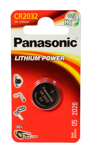Элемент питания Panasonic Lithium Power CR2032